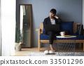 재택 근무하는 여성 33501296