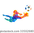 goalkeeper, ball Abstract 33502680