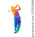 Golf Sport Silhouette 33502684