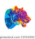 벡터, 표범, 머리 33502692