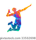 Abstract volleyball player 33502698
