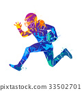 Abstract american football player 33502701