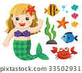 Mermaids and sea animals 33502931