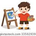 예술가, 소년, 남자 33502939