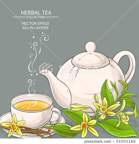 vanilla tea illustration 33503160