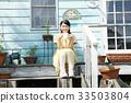 여성, 야외, 발코니 33503804