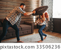 Young couple in conflict, man and woman fight 33506236
