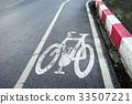 bicycle lane signage on street 33507221