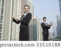 고층빌딩, 비즈니스맨, 비즈니스우먼 33510188