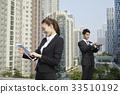 고층빌딩, 비즈니스맨, 비즈니스우먼 33510192