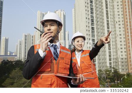작업인,비즈니스맨,비즈니스우먼,건설현장,송도,연수구,인천 33510242