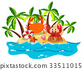 Crabs live on island 33511015