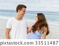 海滩 夫妇 一对 33511487
