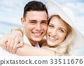 海滩 夫妇 一对 33511676