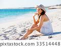 girl, beach, summer 33514448