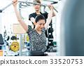 젊은 여성, 체육관, 피트니스 33520753