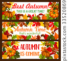 Thanksgiving banner set of autumn harvest holiday 33520869