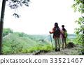 등산 여성 산정 산 걸 트레킹 친구 등산 산 야외 하이킹 33521467