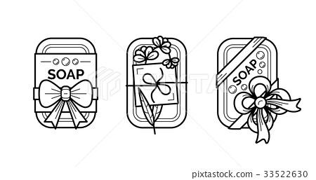 Vector thin line icons set of natural organic 33522630