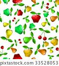 apple, pear, vector 33528053