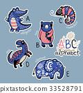 alphabet animal vector 33528791