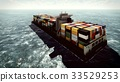 Huge container on way to port 3d rendering 33529253