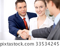 Two business man shaking hands to each other 33534245