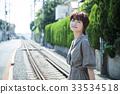 女性旅行湘南恩佐德短途旅行獨自散步 33534518