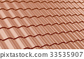 Red clay roof tiles 33535907