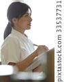 여성, 간호사, 작업 중 33537731