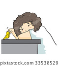 "The vector illustration ""Boy curly hair Vector"" 33538529"