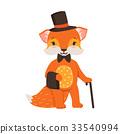 狐狸 吉祥物 人偶 33540994