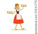 Pretty waitress in Bavarian traditional costume 33541775