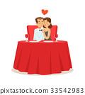 couple, love, vector 33542983