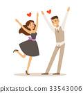 couple, elegant, run 33543006