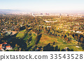Aerial view of a golf course country club in LA 33543528