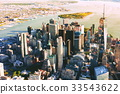 Aerial view of lower Manhattan NYC 33543622