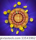 vector, roulette, gambling 33543962