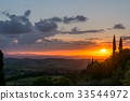 Sunset Val d'Orcia Tuscany 33544972