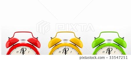 Set of 4 colorful alarm clocks 33547251