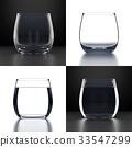 Empty Water Glasses set 33547299