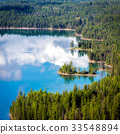 View of Holland Lake in Montana 33548894