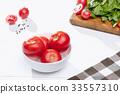 The fresh tomatos on white background 33557310