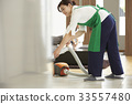 孩子在玩女人清洁 33557480