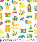 Child Toys Color Background Pattern on a White 33557553