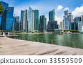 SINGAPORE-City skyline Marina Bay and Raffles  33559509