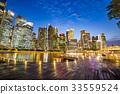 SINGAPORE-City skyline Marina Bay and Raffles  33559524