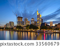 Frankfurt night city skyline, Germany 33560679