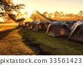 露營 日出 帳篷 33561423