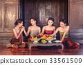 Asians women make the dessert thai of Thai culture 33561509